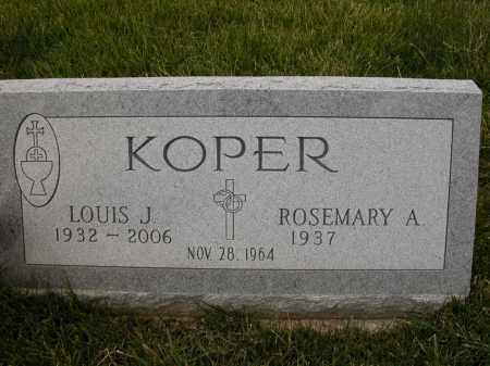 KOPER, ROSEMARY A. - Union County, Ohio | ROSEMARY A. KOPER - Ohio Gravestone Photos