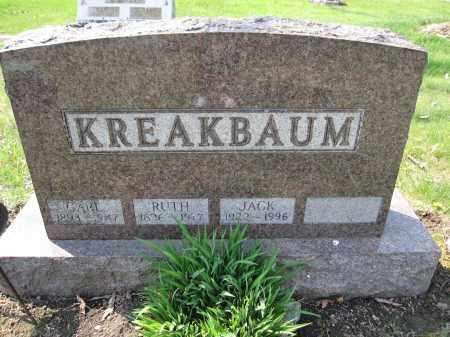 KREAKBAUM, RUTH - Union County, Ohio | RUTH KREAKBAUM - Ohio Gravestone Photos
