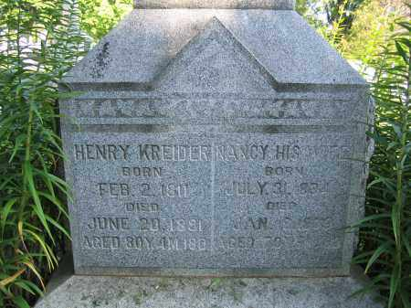 KREIDER, NANCY - Union County, Ohio   NANCY KREIDER - Ohio Gravestone Photos