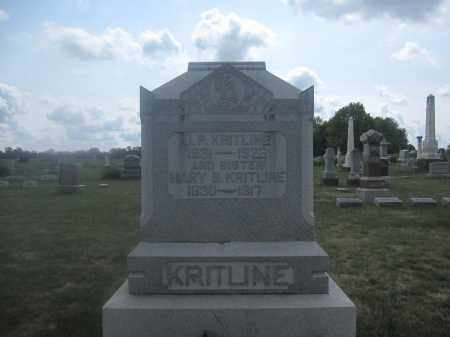 KRITLINE, MARY B. - Union County, Ohio | MARY B. KRITLINE - Ohio Gravestone Photos