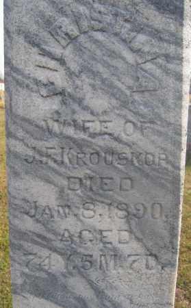KROUSKOP, CHRISTINA - Union County, Ohio | CHRISTINA KROUSKOP - Ohio Gravestone Photos
