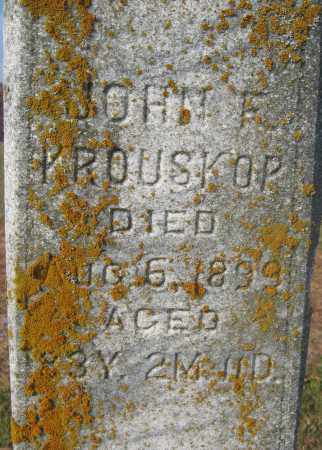 KROUSKOP, JOHN F. - Union County, Ohio   JOHN F. KROUSKOP - Ohio Gravestone Photos