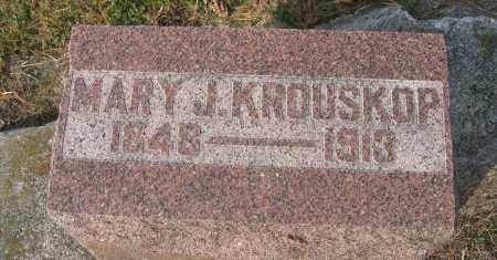 KROUSKOP, MARY J. - Union County, Ohio   MARY J. KROUSKOP - Ohio Gravestone Photos