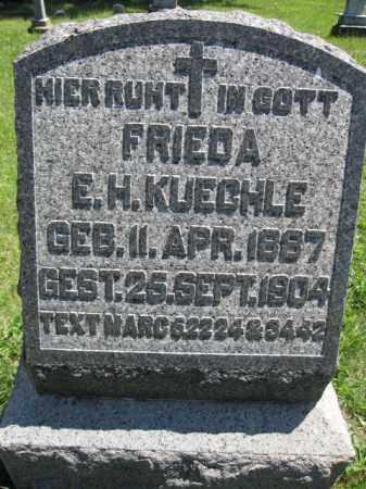 KUECHLE, FRIEDA E.H. - Union County, Ohio | FRIEDA E.H. KUECHLE - Ohio Gravestone Photos