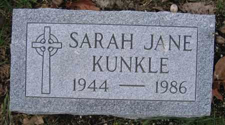KUNKLE, SARAH JANE - Union County, Ohio   SARAH JANE KUNKLE - Ohio Gravestone Photos