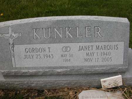 KUNKLER, JANET - Union County, Ohio | JANET KUNKLER - Ohio Gravestone Photos