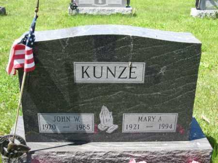 KUNZE, MARY A. - Union County, Ohio | MARY A. KUNZE - Ohio Gravestone Photos