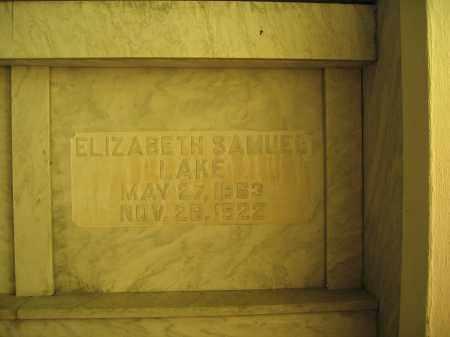 LAKE, ELIZABETH SAMUEL - Union County, Ohio | ELIZABETH SAMUEL LAKE - Ohio Gravestone Photos