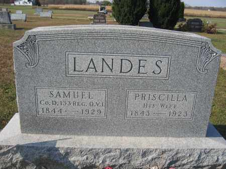 LANDES, PRISCILLA - Union County, Ohio | PRISCILLA LANDES - Ohio Gravestone Photos