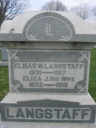 LANGSTAFF, ELMAS W. - Union County, Ohio | ELMAS W. LANGSTAFF - Ohio Gravestone Photos