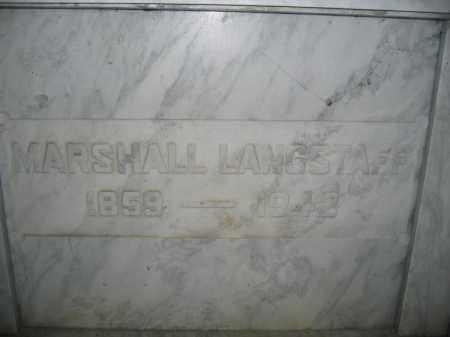 LANGSTAFF, MARSHALL - Union County, Ohio   MARSHALL LANGSTAFF - Ohio Gravestone Photos
