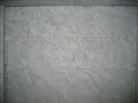 LANGSTAFF, MINNIE - Union County, Ohio | MINNIE LANGSTAFF - Ohio Gravestone Photos