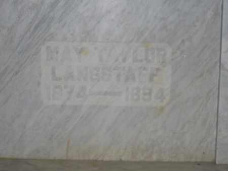 LANGSTAFF, MAY TAYLOR - Union County, Ohio | MAY TAYLOR LANGSTAFF - Ohio Gravestone Photos