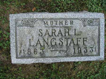 LANGSTAFF, SARAH L. - Union County, Ohio | SARAH L. LANGSTAFF - Ohio Gravestone Photos