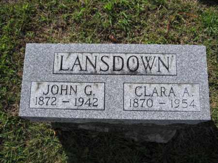 LANSDOWN, JOHN G. - Union County, Ohio | JOHN G. LANSDOWN - Ohio Gravestone Photos