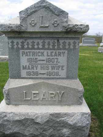 LEARY, PATRICK - Union County, Ohio | PATRICK LEARY - Ohio Gravestone Photos