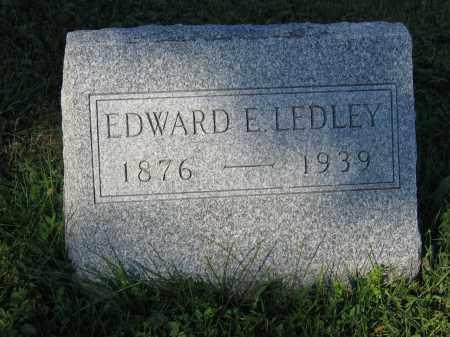 LEDLEY, EDWARD E. - Union County, Ohio | EDWARD E. LEDLEY - Ohio Gravestone Photos