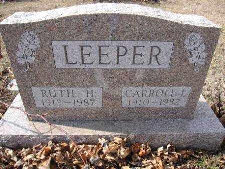 LEEPER, CARROLL L. - Union County, Ohio | CARROLL L. LEEPER - Ohio Gravestone Photos