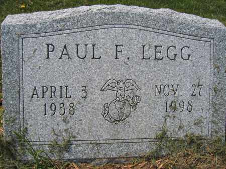 LEGG, PAUL F. - Union County, Ohio | PAUL F. LEGG - Ohio Gravestone Photos