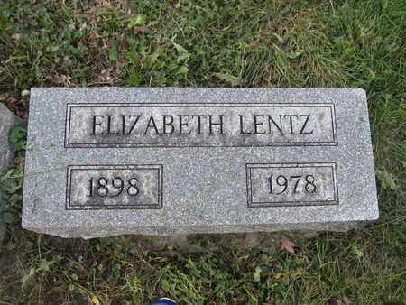 LENTZ, ELIZABETH - Union County, Ohio | ELIZABETH LENTZ - Ohio Gravestone Photos