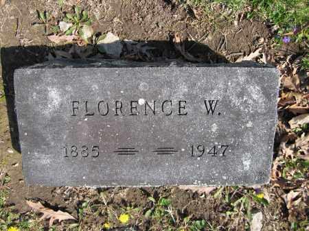 LENTZ, FLORENCE W. - Union County, Ohio   FLORENCE W. LENTZ - Ohio Gravestone Photos