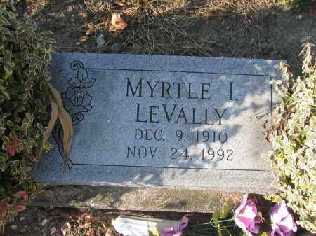 LEVALLY, MYRTLE I. - Union County, Ohio | MYRTLE I. LEVALLY - Ohio Gravestone Photos