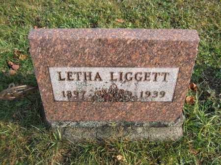 LIGGETT, LETHA - Union County, Ohio | LETHA LIGGETT - Ohio Gravestone Photos