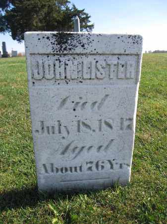 LISTER, JOHN - Union County, Ohio | JOHN LISTER - Ohio Gravestone Photos