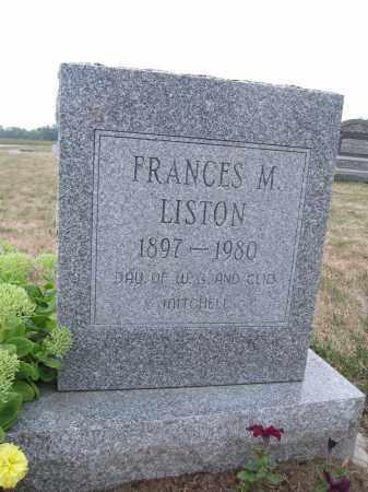 LISTON, FRANCES M. - Union County, Ohio | FRANCES M. LISTON - Ohio Gravestone Photos