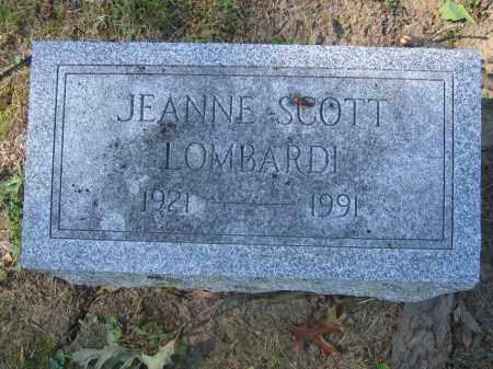 LOMBARDI, JEANNE SCOTT - Union County, Ohio | JEANNE SCOTT LOMBARDI - Ohio Gravestone Photos