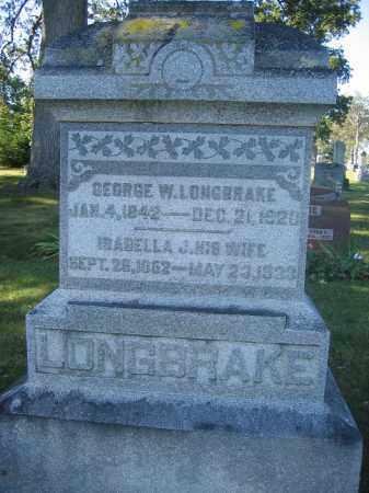 LONGBRAKE, GEORGE W. - Union County, Ohio | GEORGE W. LONGBRAKE - Ohio Gravestone Photos