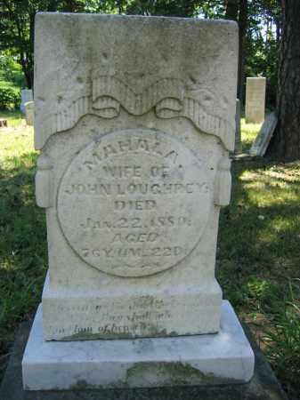 LOUGHREY, MAHALA - Union County, Ohio   MAHALA LOUGHREY - Ohio Gravestone Photos