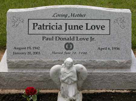 LOVE, PATRICIA JUNE - Union County, Ohio | PATRICIA JUNE LOVE - Ohio Gravestone Photos