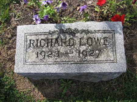 LOWE, RICHARD WALLACE - Union County, Ohio | RICHARD WALLACE LOWE - Ohio Gravestone Photos
