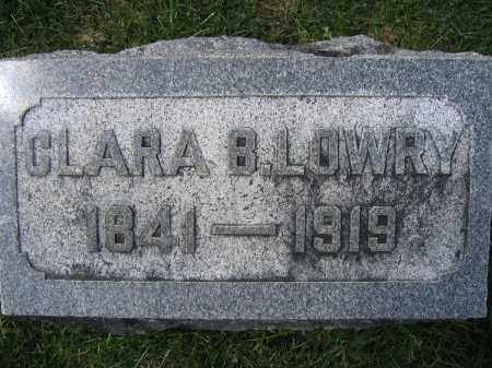LOWRY, CLARA B - Union County, Ohio | CLARA B LOWRY - Ohio Gravestone Photos