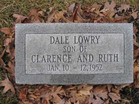 LOWRY, DALE - Union County, Ohio   DALE LOWRY - Ohio Gravestone Photos