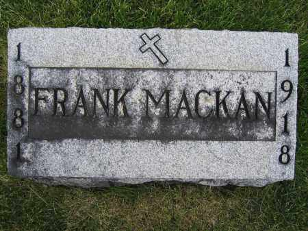 MACKAN, FRANK - Union County, Ohio | FRANK MACKAN - Ohio Gravestone Photos