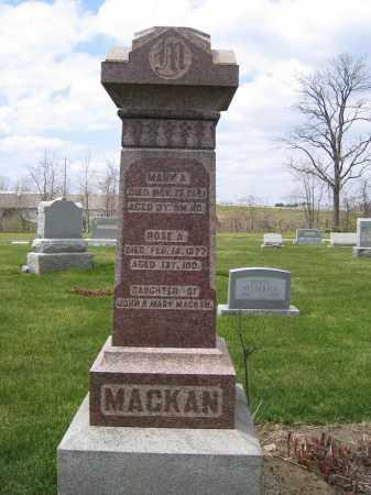 MACKAN, MARY A - Union County, Ohio | MARY A MACKAN - Ohio Gravestone Photos