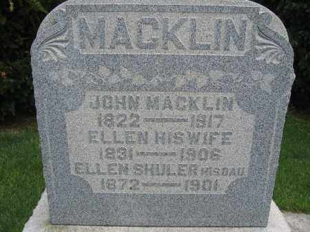 MACKLIN, JOHN - Union County, Ohio | JOHN MACKLIN - Ohio Gravestone Photos