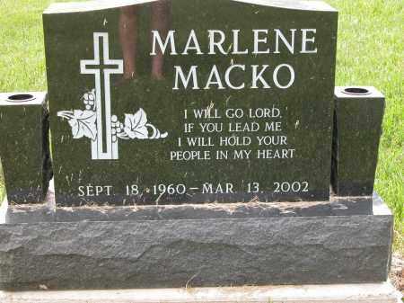 MACKO, MARLENE - Union County, Ohio   MARLENE MACKO - Ohio Gravestone Photos