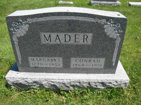 MADER, CONRAD - Union County, Ohio | CONRAD MADER - Ohio Gravestone Photos