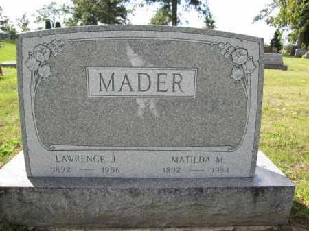MADER, LAWRENCE J. - Union County, Ohio | LAWRENCE J. MADER - Ohio Gravestone Photos