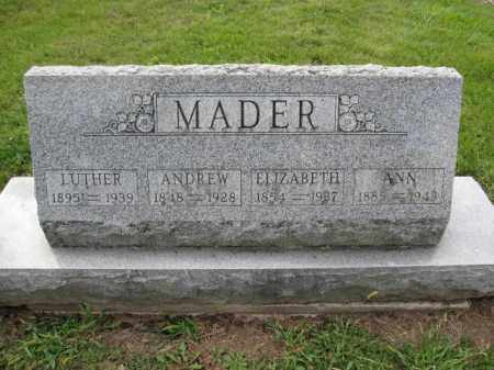 MADER, LUTHER - Union County, Ohio | LUTHER MADER - Ohio Gravestone Photos