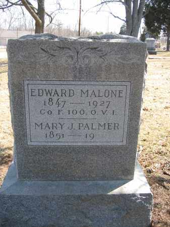 MALONE, EDWARD - Union County, Ohio | EDWARD MALONE - Ohio Gravestone Photos