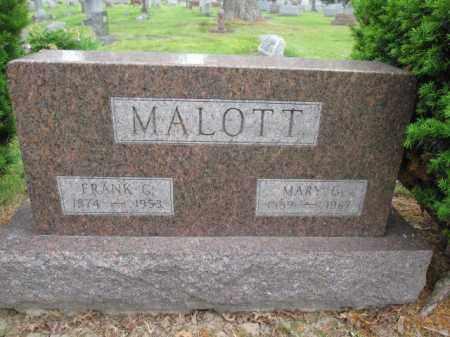 MALOTT, MARY G. - Union County, Ohio | MARY G. MALOTT - Ohio Gravestone Photos