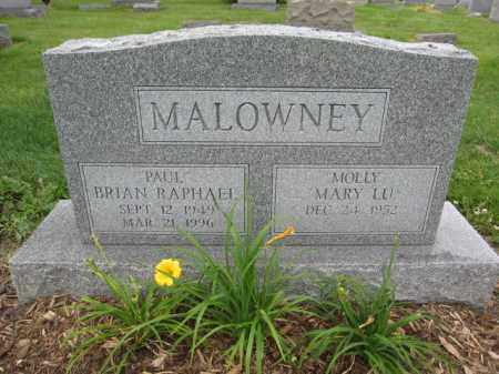 MALOWNEY, MARY LU - Union County, Ohio | MARY LU MALOWNEY - Ohio Gravestone Photos