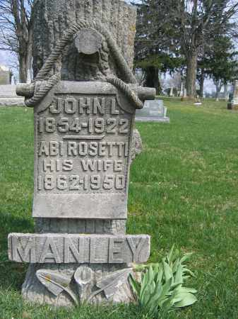 MANLEY, JOHN L - Union County, Ohio | JOHN L MANLEY - Ohio Gravestone Photos