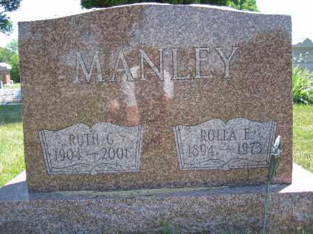 MANLEY, ROLLA E. - Union County, Ohio | ROLLA E. MANLEY - Ohio Gravestone Photos