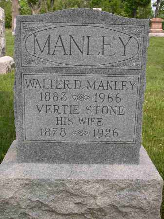 MANLEY, WALTER D. - Union County, Ohio | WALTER D. MANLEY - Ohio Gravestone Photos