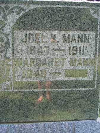MANN, JOEL K. - Union County, Ohio   JOEL K. MANN - Ohio Gravestone Photos
